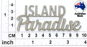 Island Paradise Chipboard Title