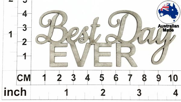 Best Day Ever Chipboard Title