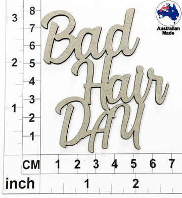 Bad Hair Day Chipboard Title