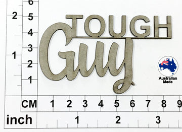 Tough Guy Chipboard Title