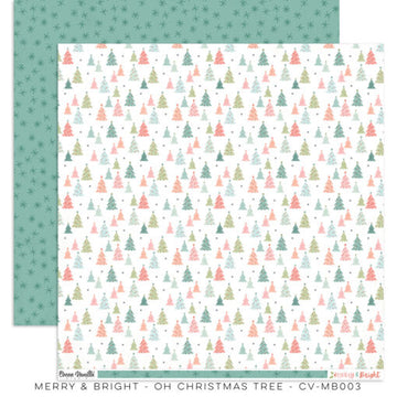 "Merry & Bright -  Christmas Tree 12x12""Paper"