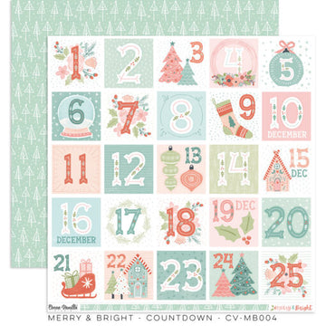 "Merry & Bright -  Count Down Tree 12x12""Paper"