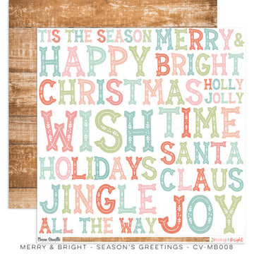 "Merry & Bright - Seasons Greetings 12 x 12""Paper"