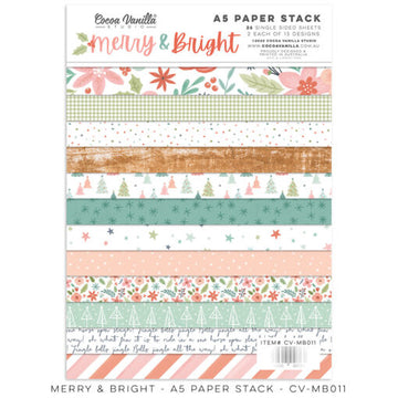Merry & Bright - A5 Paper Stack