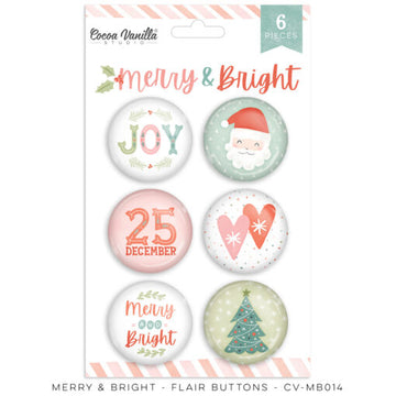 Merry & Bright - Flair Buttons