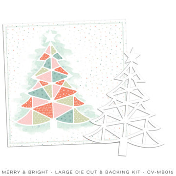 Merry & Bright - Large Die Cut and Backing kit