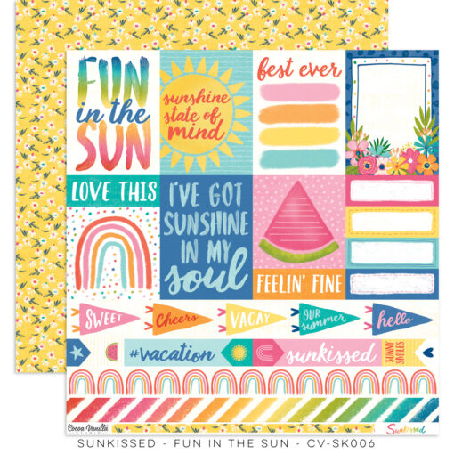Cocoa Vanilla Sunkissed - Fun in the Sun 12x 12 paper