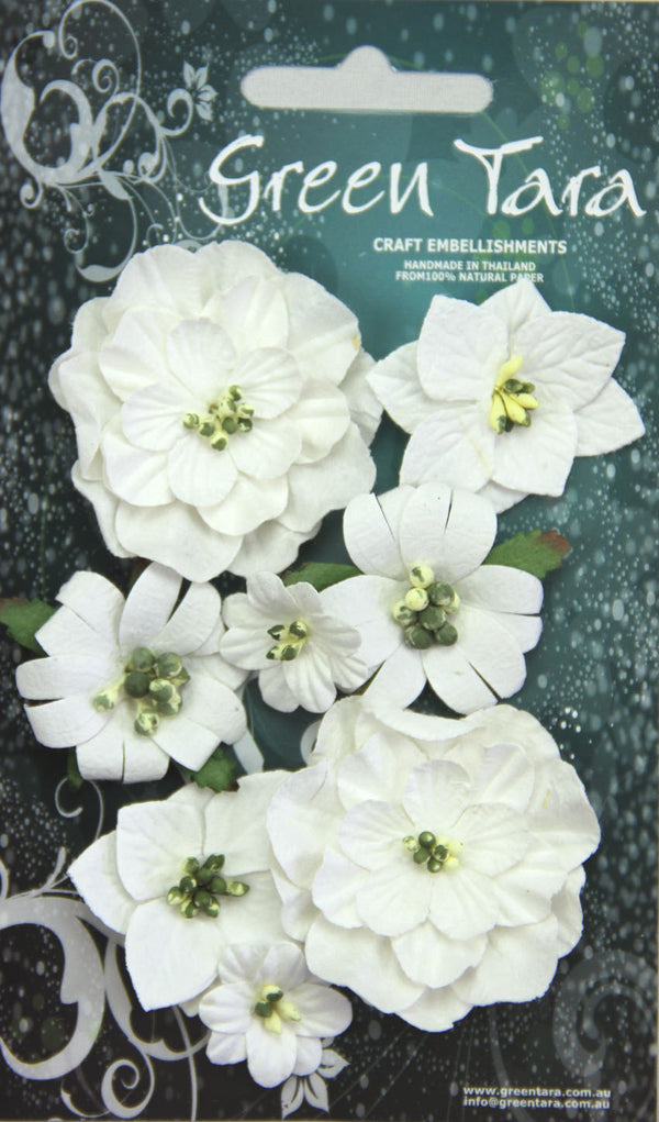 Fantasy Bloom Flowers - White