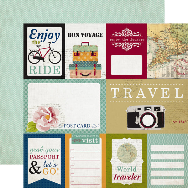 "Getaway - Journaling Cards 12x12"" Paper"