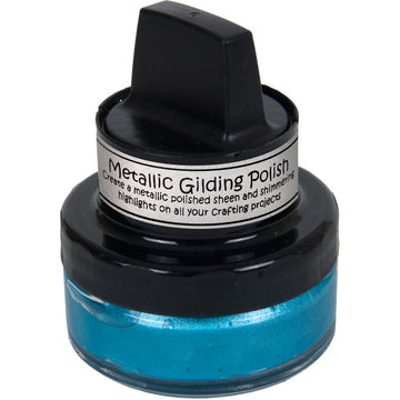 Ocean Teal Metallic Gilding Polish