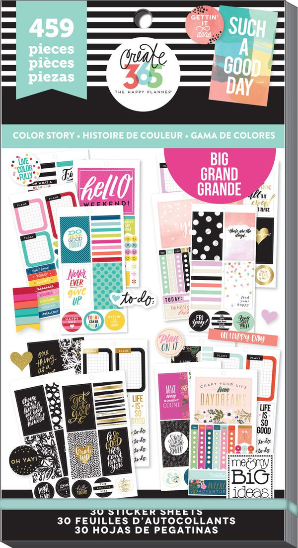 Happy Planner Sticker Book - Color Story Big