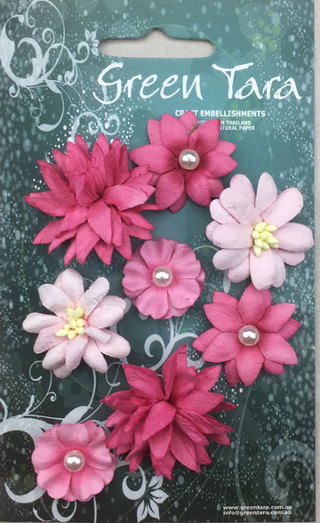 Rustic Flowers - Pink 8 Pack