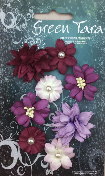Rustic Flowers - Purple 8 Pack