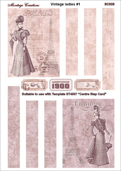 Montage Sheet Vintage Ladies SC035