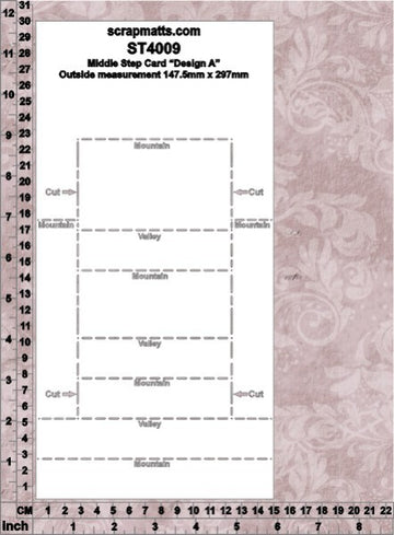 Card Template 4009 Middle Step A