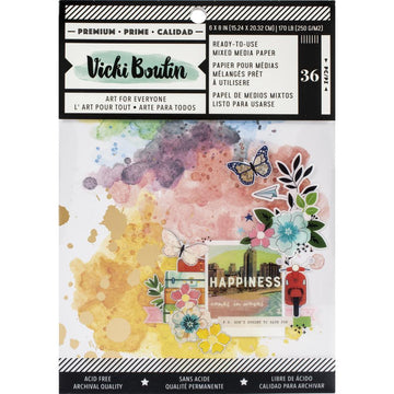 "6x8"" Mixed Media Background Paper Pad"