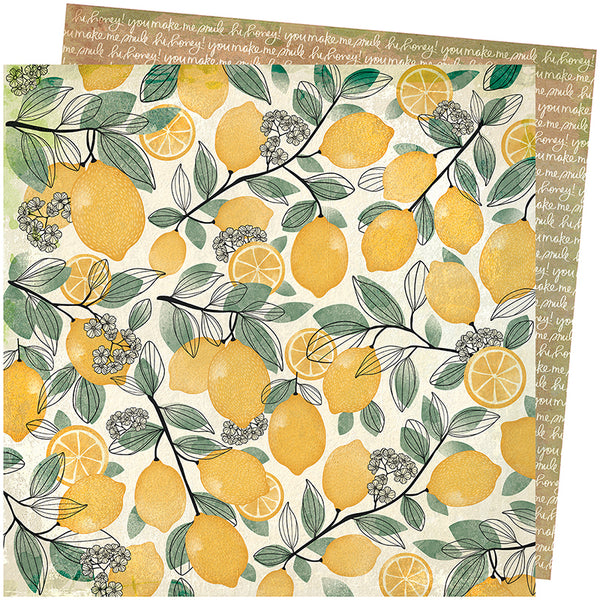 "Wildflower And Honey Lemon Spritz 12x12""Paper"