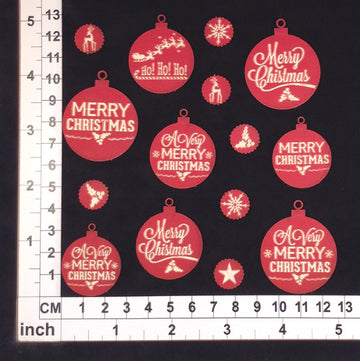 Christmas Ornaments 14 - Chipboard