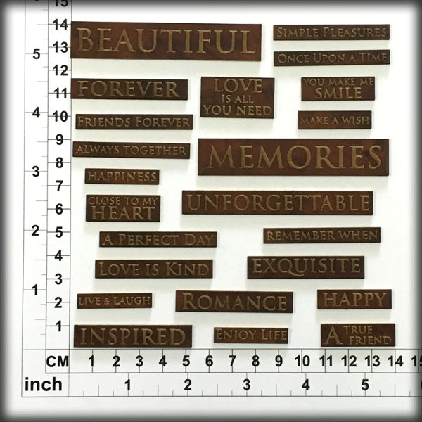 Scrap Words 26 - Chipboard