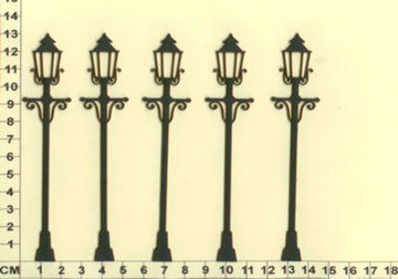 Lamp Posts - Chipboard