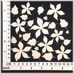 Layered Poinsettias - Chipboard