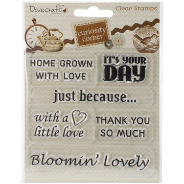 Curiosity Corner - Sentiments Clear Stamps