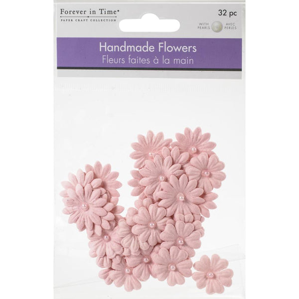 Copy of Multicraft Handmade Paper Flowers 32/Pkg Pink
