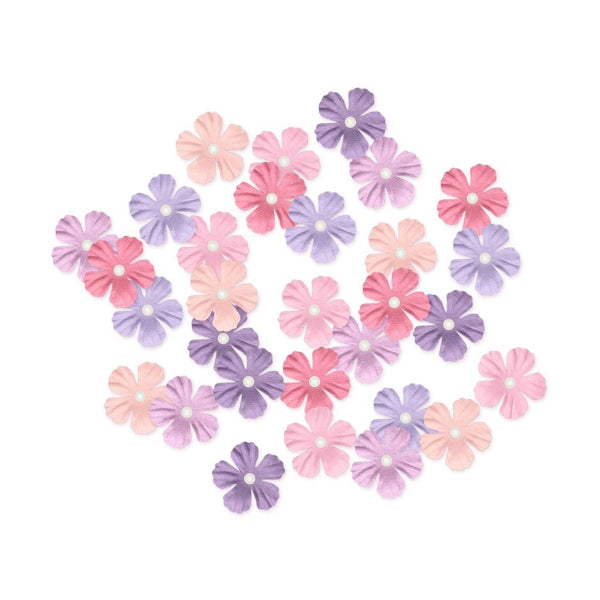 Multicraft Handmade Paper Flowers 30/Pkg (Pink/Purple)
