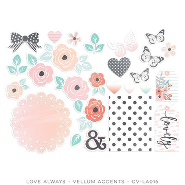 Love Always Vellum Shapes