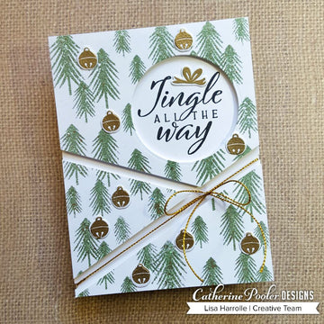 One Fine Pine Background Stamp