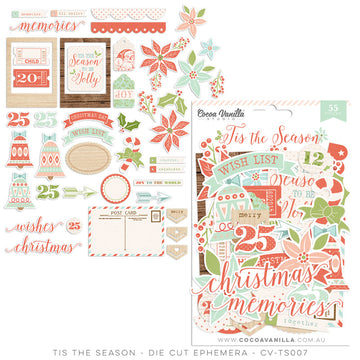 Tis The Season Die Cut Ephemera