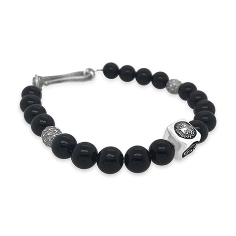Integrity Bracelet in Black Jade, Silver