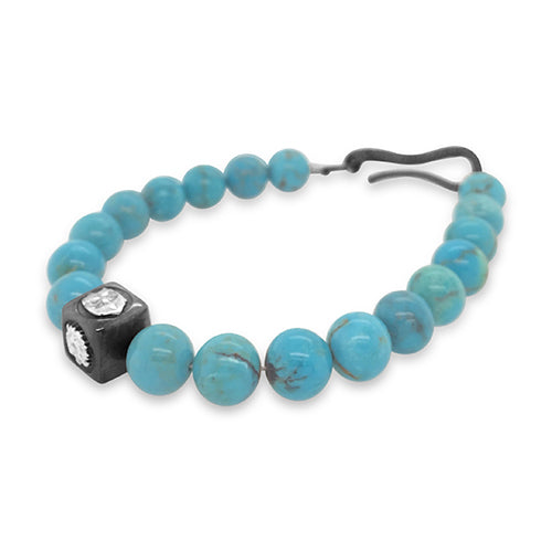 Integrity Bracelet in Turquoise, Silver.