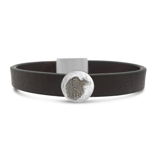 Eagle Leather Cuff Brown