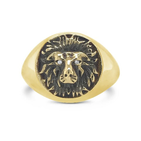 Courage Signet Ring Gold