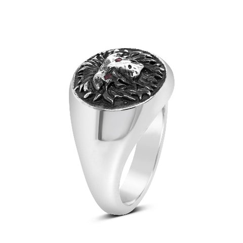 Courage Signet Ring Silver