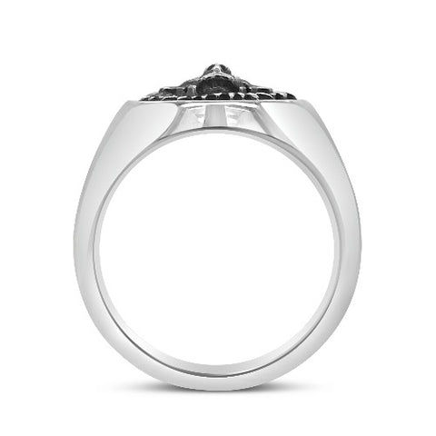 Courage Dress Ring Silver - Large