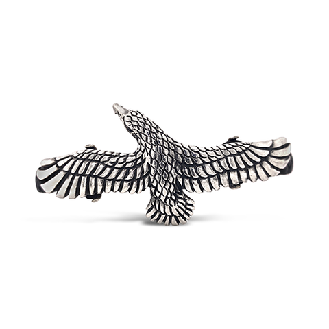 Perspective Eagle Cuff Silver Leather