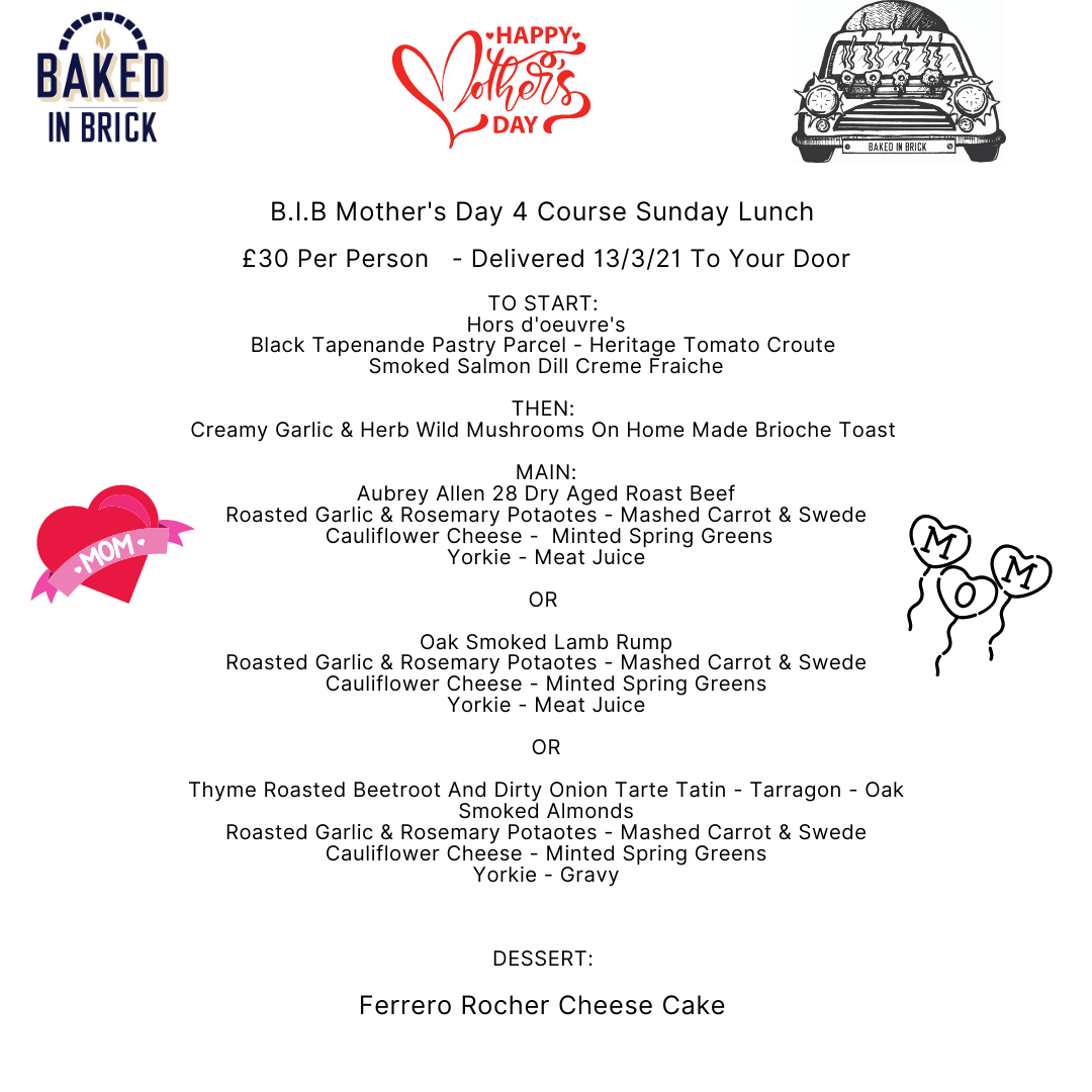Mother's Day 4 Course Sunday Lunch