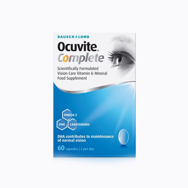 Bausch+Lomb Ocuvite Complete Food Supplement - 60 Capsules