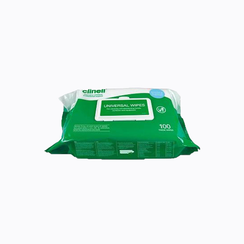 Clinell Universal Surface Wipes – Pack of 100