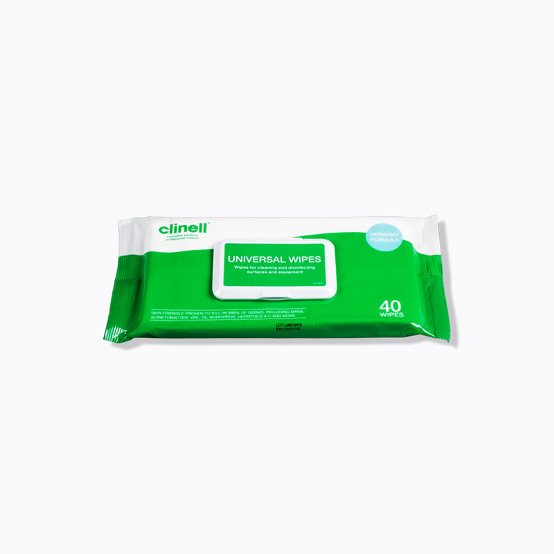 Clinell Universal Alcohol-Free Surface Wipes – Pack of 40