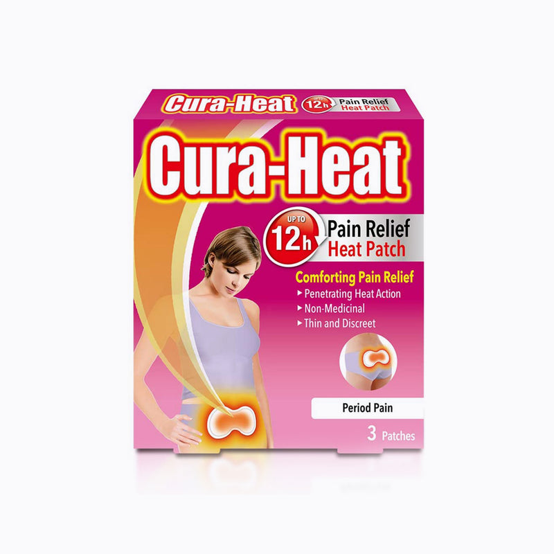 Cura Heat Period Pain Relief - 3 Patches