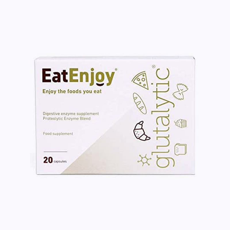 EatEnjoy Glutalytic Gluten Intolerance Supplement - 20 Capsules