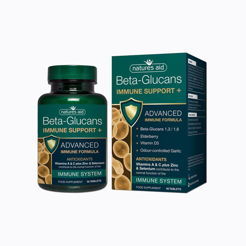 Nature's Aid Beta-Glucans Immune Support+ – 90 Tablets