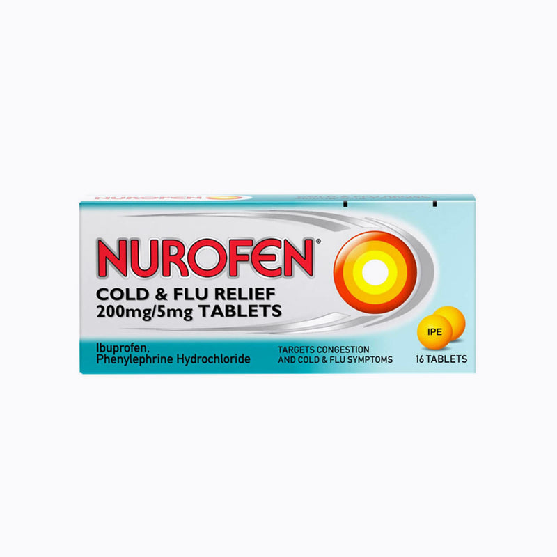 Nurofen Cold & Flu Relief 200mg/5mg – 16 Tablets