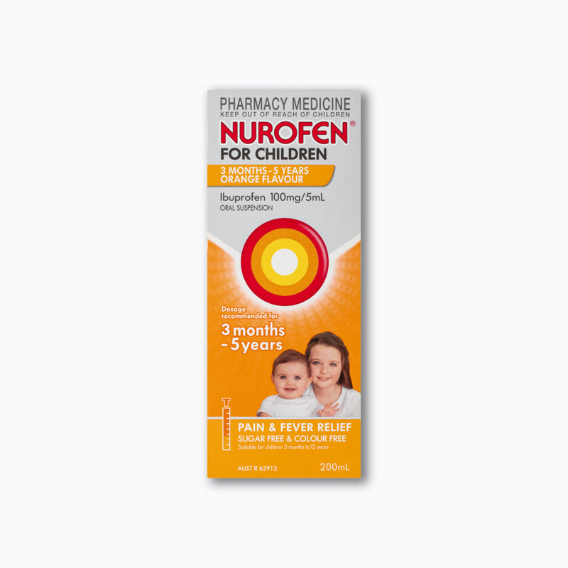 Nurofen For Children Orange Flavour 100mg/5ml