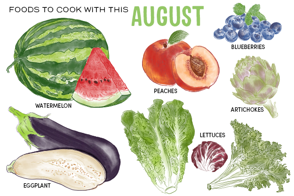 Foods to Cook with this August