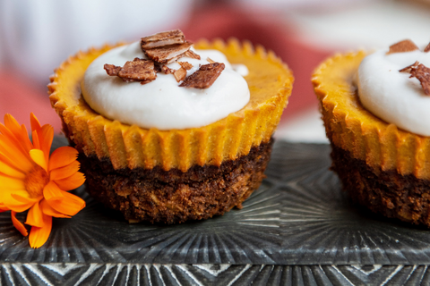Rawcology Recipe Plant Based Pumpkin Cheezecake Cups