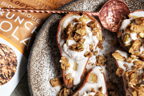 Baked Pears with Rawcology Banana Granola